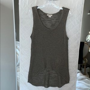 Helmet Lang Knitted Top Tunic Tank